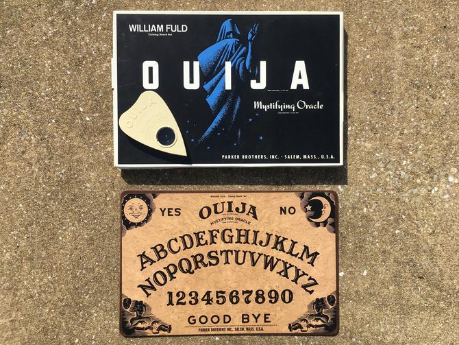 Vintage Ouija Board Game Plachette Box Mystifying Oracle William Fuld Parker Brothers Psychic Spirit Talking Collectible Salem MA 1960s by CheckEngineVintage