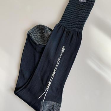 1940'S SOCKS - Rayon Body - Mercerized Cotton Heel, Top & Toe - Never Worn - Original Tags - Vintage NOS Dead/Stock - Men's Size Large by GabrielasVintage