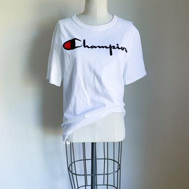 Vintage Champion Embroidered Logo T-shirt / S by MsTips