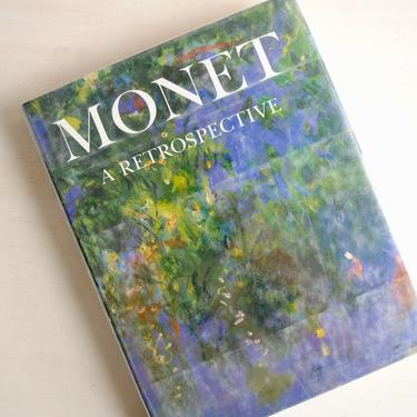 Monet A Retrospective Book, Monet Full Color Art Book, Coffee Table Book, Impressionist Art Book, Claude Monet Art Book by LittleDogVintage