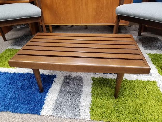 Mid-Century Modern small scale slat bench / coffee table