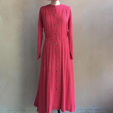 Vintage 70s Super Soft Sheer Textured Cotton Linen Dress w/ Pockets by LucileVintage