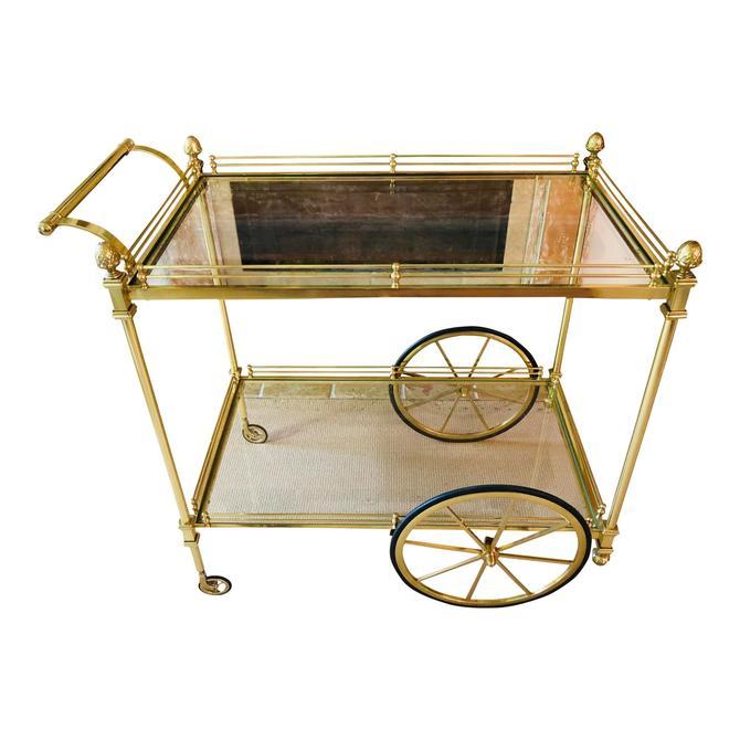 Vintage Brass Car Cart
