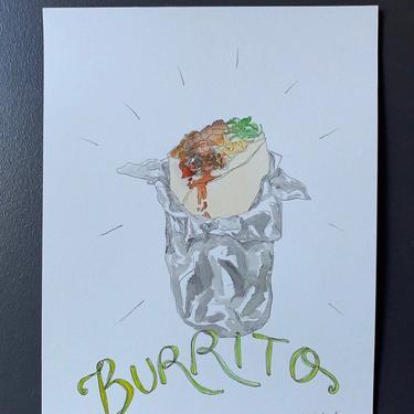 Burrito Original Watercolor Painting