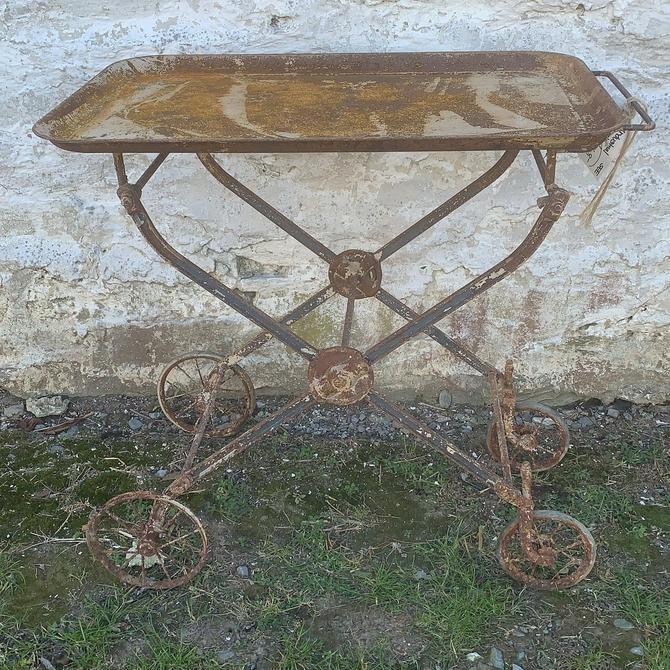 Cool, Vintage Iron Entertaining Cart