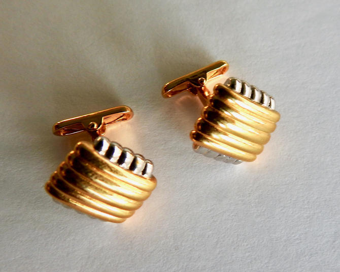 Gold and Silver tone Shank Style Cufflinks by LegendaryBeast