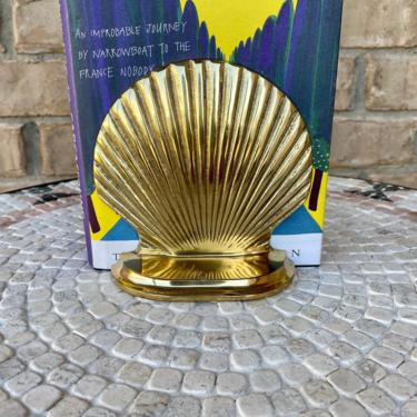Set of Brass Sea Shell Shaped Bookends in Excellent Condition by PrimaForme