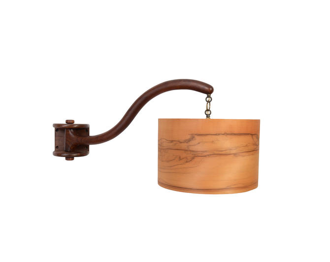 Walnut Wall Lamp Swing Arm Sconce Mid Century Modern by HearthsideHome