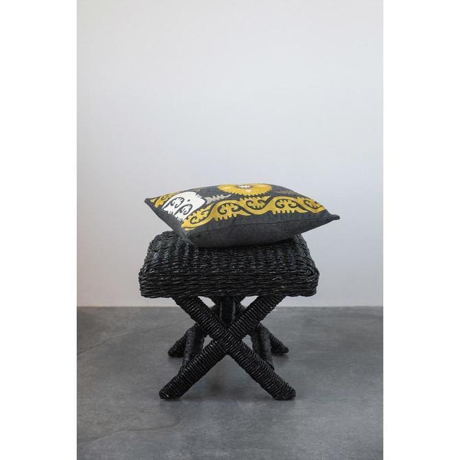 Embroidered Sunburst Pillow