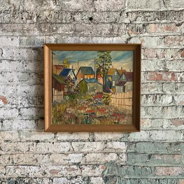 Vintage Iowa Penitentiary Prison Art Framed Painting by NorthGroveAntiques