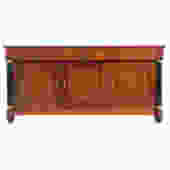 Baker French Empire Style Cherrywood Credenza
