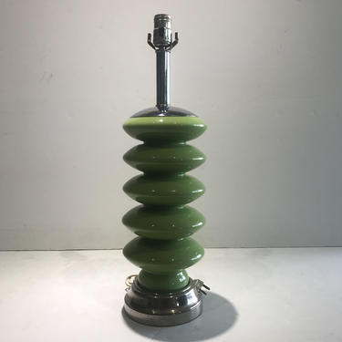 Giacometti Style Green Glass Table Lamp Mid Century Modern by MidCenturyCity