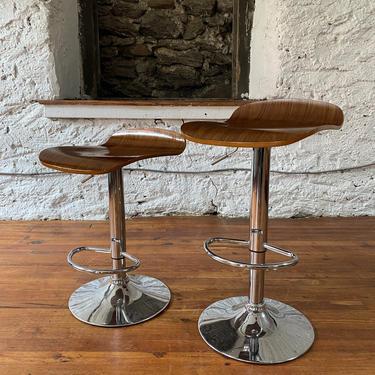 Mid century modern bar stool mid century kitchen island stool mid century modern adjustable stool a pair by VintaDelphia