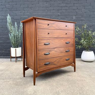 Mid-Century Floating Walnut Highboy Chest of Drawers, c.1960's by VintageSupplyLA