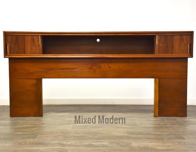 Walnut MCM King Headboard by Cavalier by mixedmodern1