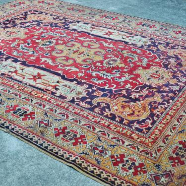 """Antique Hand Knotted Turkish Kayseri Area Rug  -  5' 11"""" x  8' 2"""" by SourcedModern"""