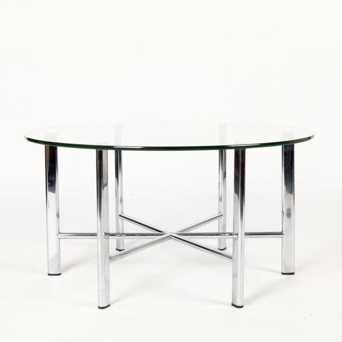 Chrome Base Cocktail Table, Italy
