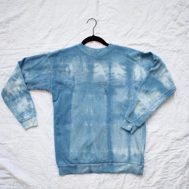 Indigo Dyed Sweatshirt, Window Pane Series 3 by wemcgee