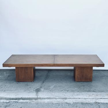 Smart Extendable Modernist Walnut Coffee Table by John Keal for Brown Saltman