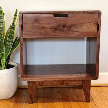 Modern Nightstand / Bedside Table w/ Drawer / Available in Other Woods by AvocationHardwoods