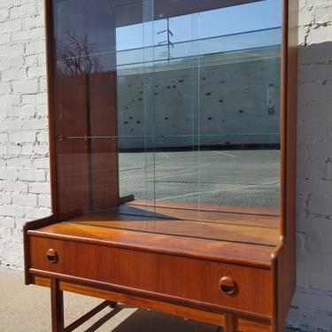 Mid Century Modern Teak Mirrored Cabinet by VintageVaultTulsa
