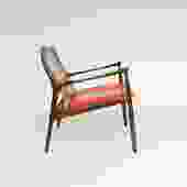 Ib Kofod Larsen Cane Back Armchair