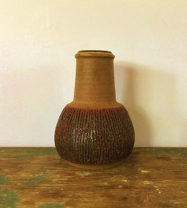 Danish Modern Vintage Søholm Stoneware Vase Designed by Einar Johansen by ModandOzzie