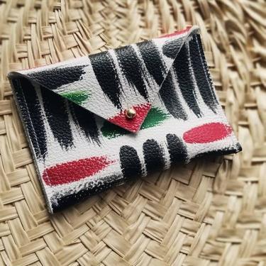 Leather Envelope Wallet - Business Card Holder - Credit Card Holder - Omi Pan-African by rkitekt