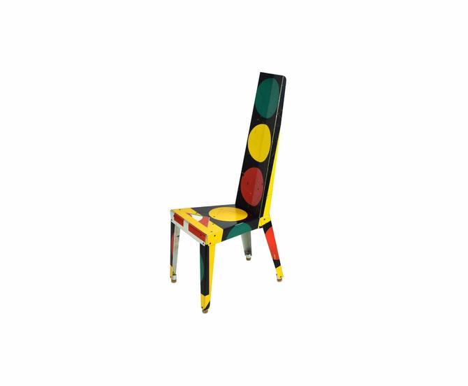 Original Boris Bally Sculptural Transit Traffic Sign Chair Stop & Go Light by PrairielandArt