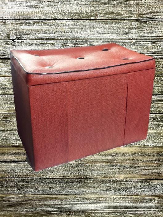 Awe Inspiring Vintage Ottoman Storage Box Vintage Footstool Mid Century Modern Black Red Storage Trunk Retro Toy Box Vinyl Bench Vintage Furniture By Ncnpc Chair Design For Home Ncnpcorg