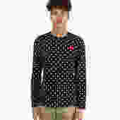 Play Red Heart Polka Long Sleeve T-Shirt