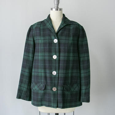 1950s Pendleton 49er Jacket Wool Plaid Sportswear M by dejavintageboutique