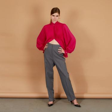 80s Grey Textured High Waisted Levis Trousers Vintage Straight Leg Pants by AppleBranchesVintage