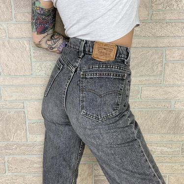 Levi's 550 Student Fit Washed Out Grey Jeans / Size 26 27 by NoteworthyGarments