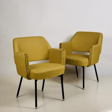Pair of Rare 'Deauville' Armchairs by Marc and Pierre Simon for Airborne