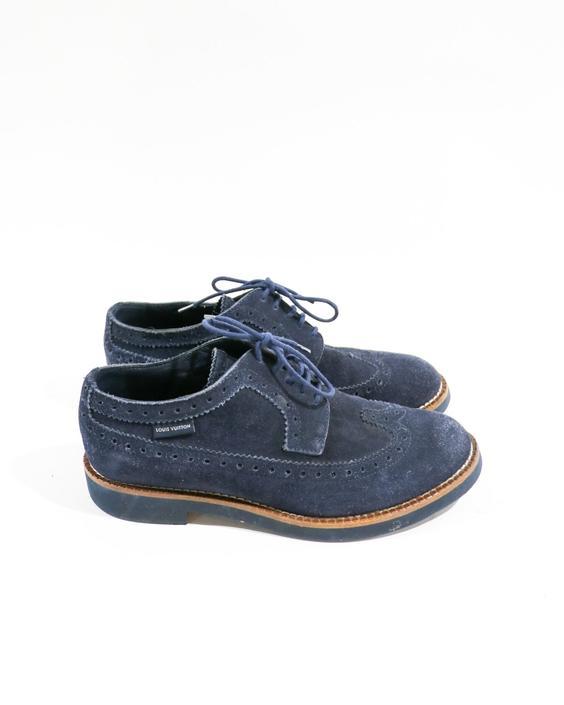 Louis Vuitton Suede Oxfords, Size 38
