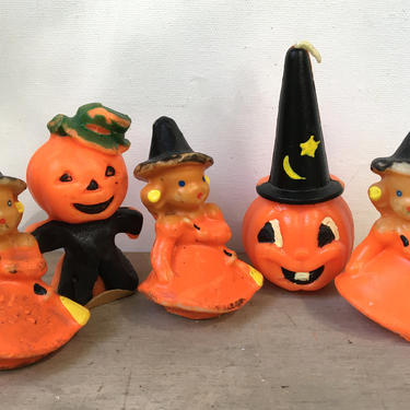 Vintage Halloween Gurley Candles, Gang Of Gurley Party Decor,  Halloween Candles by luckduck