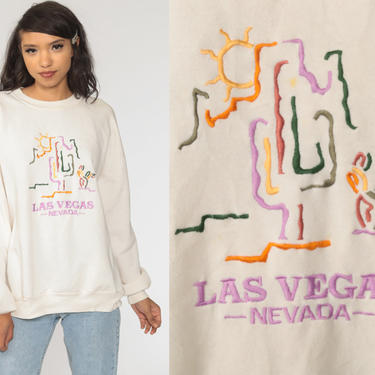Las Vegas Sweatshirt Southwestern Sweatshirt 90s Cactus Desert Shirt Southwest Sweater 1990s Graphic Vintage Nevada Extra Large xl by ShopExile