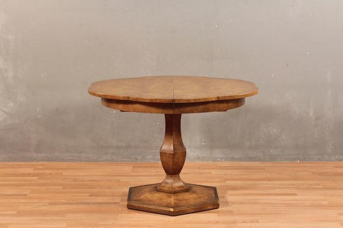 Regency Burl-Wood Dining Table with 2 Leaves