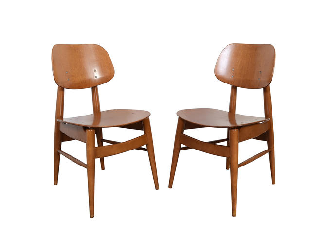 Thonet Chairs Bent Wood Chairs Mid Century Modern by HearthsideHome
