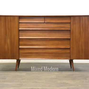 Drexel Walnut Credenza Sideboard by mixedmodern1