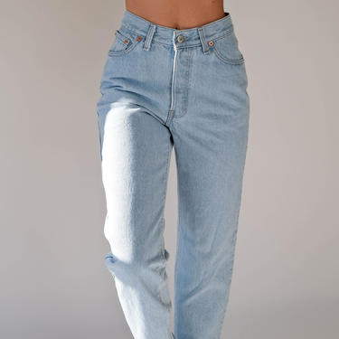 Vintage 80s LEVIS Womens Light Wash 501 High Waisted Jeans | Made in USA | Size 25/26 | 1980s LEVIS Boho High Waisted Light Wash Denim Pants by TheVault1969