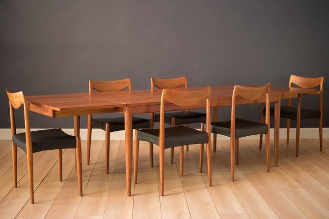Vintage Danish Teak Pocket Leaf Extension Dining Table by MidcenturyMaddist