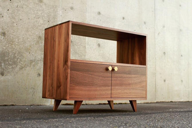 Pike Place Console, Mid-Century Modern, American Modern (Shown in Walnut) by TomfooleryWood