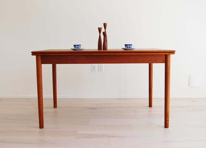 Danish Modern Teak Dining Table with Extensions AM Mobler Made in Denmark by MidCentury55