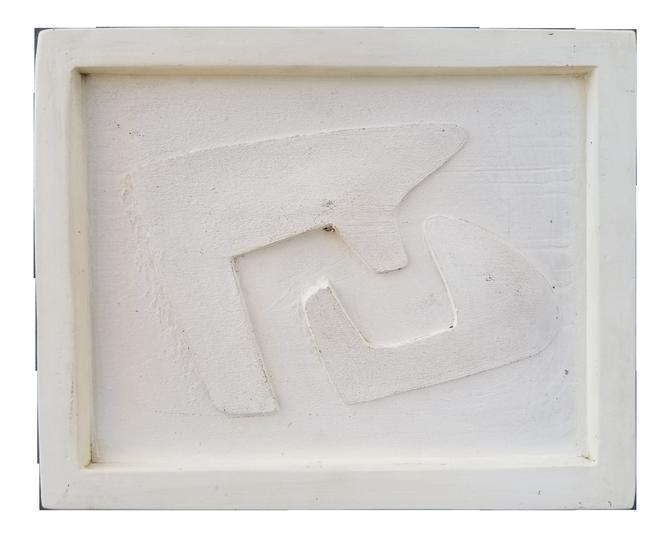 Herman Volz Abstract / Cubist Terracotta Wall Plaque by JanakosAndCompany
