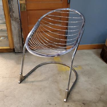 Vintage Steel Wire Egg Chairs