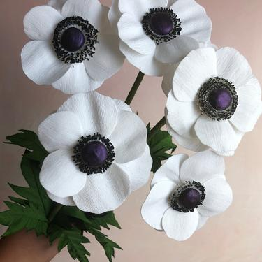 Crepe Paper Anemone -- Paper Flowers for Home Decor or Weddings by ReveryPaperFlora