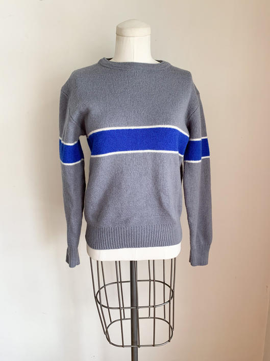 Vintage 1980s Color Block Wool Sweater / S/M by MsTips