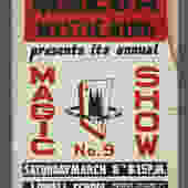 1960s Screenprint Annual No. 9 Magic Show Mazda Mystic Ring Magic Show Poster Genuine Illusionist 14 x 22 by VintageInquisitor